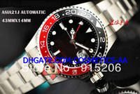 Wholesale alibaba express Sapphire Glass GMT II Stainless steel SS Men s Date Watch Black Red Mens Automatic Sports Watches