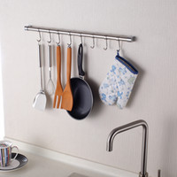 Wholesale IKEA Style cm Hanging Rod and Hooks Kitchen Storage Rack K1