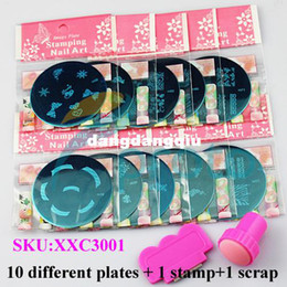 Wholesale Hot Sale Round Stainless Steel Image Plate stamp scrap DIY Nail Art Stamping Template Set