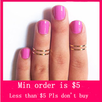 Wholesale Min Order Mix Jewelry order Gold Silver Midi Above Knuckle Rings Set Thin Band Various Sizes D0242
