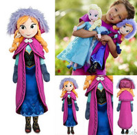Wholesale Frozen Doll Princess cm Elsa Anna Plush Doll Brinquedos Kids Baby Soft Toys Girls Dolls Frozen Plush Toys Birthday Christmas Gifts