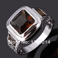 Wholesale Hot Sale R048WBT Jewelry Size to11 Fashion Man s AAA Tanzanite Stone Cz K White Gold Filled Party Ring Gift