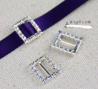 Wholesale New High quality Heart Crystal Rhinestone Ribbon Slider Buckles Wedding Invitations mm