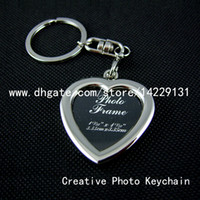 Promotion Alloy Digital Photo Keychains Originality products , B style , can customizable guest logo , Metal Photo frame Key chain keychain keyring , Accept small orders