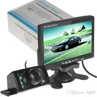 Wholesale Inch TFT LCD Color Display Screen Car Rear View DVD VCR Monitor IR LED Lights Night Vision Rearview Reversing Camera