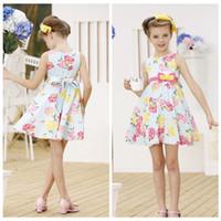 TuTu Summer A-Line Dresses from China 2014 Summer Children clothes 100% cotton High waist sleeveless Girls dress girl party dress kids clothing 1297