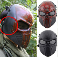April Fool's Day airsoft face mask - DC scary horror skull Chastener Ear protective Full Face Mask For halloween Party CS Wargame Field game Cosplay Movie Prop Airsoft