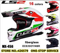 Wholesale Exclusive Champion Helmet Genuine Fiberglass Motorcycle Helmets LS2 MX456 Motocross Helmet Built in Air Bag Moto Parts