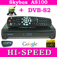 Receivers DVB-S  5pcs original Skybox AS100 Android+DVB-S2+Card Sharing Combine Receiver Android TV Box digital HD Satellite Receiver free shipping