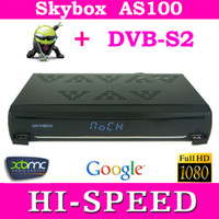 Wholesale 1pc Skybox AS100 Android DVB S2 receiver Card Sharing Combine Android TV Box digital HD Satellite receptor decoder fedex