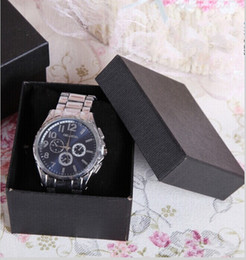 Top Quality Black  Red Wristwatch Display Paper Box Jewelry Gift Packaging Boxes Cheap Sale Free Shipping