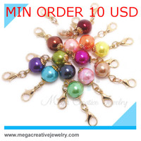 Charms Slides, Sliders Cluster pearl dangles for memory glass living floating locket