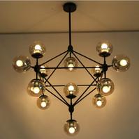 LED halogen light - Modern Glass Chandeliers Jason Miller MODO Chandelier DNA Droplight Heads Dining Room Pendant Lamp Light Lighting For Restaura