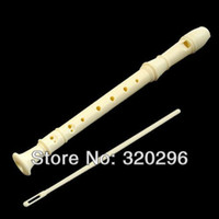 ABS Open Yes White 8-hole flute toy flute (gift cleaning rod)