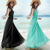 Work Bohemian Mini New Arrival! Details About Vogue Summer Beach Boho Bohemian Solid Sunderss Crewneck Maxi Long Swing Dress 2 Colors #04 SV002026