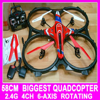 Electric 2 Channel 1:4 TOP Quality 58CM The Big RC Quadcopter 2.4g 4ch 6 Axis Remote Control quad copter Ar.drone Drone Helicopter gyro (vs v959 v262)
