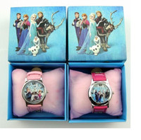 Wholesale 10pcs Frozen Elsa Anna Children watches and Cartoon watches Party Gifts With Retail Box