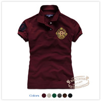 Men Polo Short Sleeve One hundred yuan three rtw American women's new summer short-sleeved polo shirt t-shirt RTWT12580 College Wind