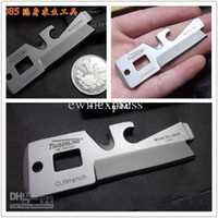 Multi Knife Stainless Steel Stainless Steel Wholesale - 5 in 1 TIMBERLINE R085 Stainless Multi-Purpose Stainless O2 Wrench Pocket Military Card Knife 30pcs