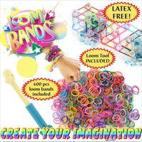Mexican Unisex Party 2014 New Rainbow Loom Kit DIY Wrist Bands Rainbow Loom Bracelet for kids (300 pcs bands + 12 pcs S-clips ) 13 Colors