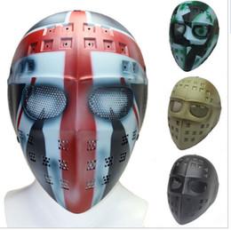 Proteger a paintball en Línea-Portero del hockey Portero Full Face Mask Proteja con malla metálica gafas para Airsoft Paintball Campo juego de Cosplay