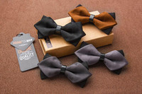 Wholesale PU Solid Color Bow Tie Adjustable BowTie Tuxedo Bowties for men wedding Formal