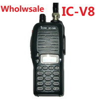 Wholesale ICOM V8 handheld two way radio cheap radio VHF Mhz IC V8 transceiver walkie talkie VHF channel coolcity2012