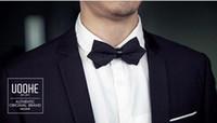 Wholesale PU Tie Wedding Tie Tuxedo PreTied Bowtie Groom Bestman Party adjustable