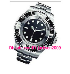 Wholesale Free Shping Hot Sales Top Quality Luxury Watches Ceramic Challenge MM Black Dial Stainless Steel Bracelet Automatic Men s Watches