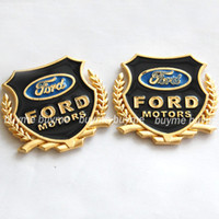 Personalized Sticker Whole Body  Freeshipping 3D 2pcs lot Ford car side MetaL Badge Emblem Decal Sticker Gold color for ford ford focus ect