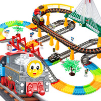 Wholesale Thomas train sets rail car track children s toy train track electric rail car racing