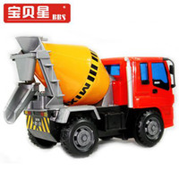 Multicolor Plastic Baby Star engineering vehicles FT6079 ce Baby Star engineering vehicles FT6079 cement truck mixer shatterproof Friction Car Children Toy Car