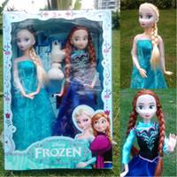 Wholesale 2016 hot toy Frozen New Arrival Frozen Figure Set Elsa anna with snowman Classic Toys Frozen Toys Dolls cm
