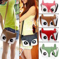 Wholesale 2014 New Women Ladies Retro Shoulder Bag Fashion Messenger Bags Cute School Tote Owl Fox Pu Handbags