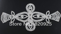 Wholesale 1Pc Clear Glass Rhinestone Silver Sewing Applique Bridal Costume Ornaments