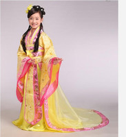 Women Tang Suit Traditonal Chinese Wholesale - Fall in Love With China Royal tailing Beautiful Girl's Dress Traditional children costume Ethnic Dress