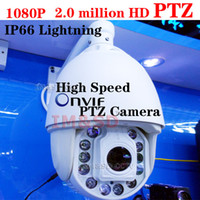 Wholesale Onvif MP Full HD IP P IP66 Lightning High Speed PTZ Outdoor waterproof X optical zoom IP Network Dome PTZ Camera