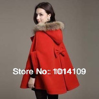 Coats Women Cotton Promotion 2014 Fahion Female Coats Red Coat Manteau and Duffles European Style Women Plus Size Women's Clothing