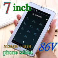 Wholesale DHL Colorful Inch V A13 G GSM Phone Sim Calling Tablet PC Android GB M RAM Dual Camera Capacitive Screen Wifi TA77