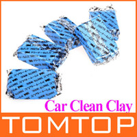 Brush Sponges, Cloths & Brushes OEM 5Pcs set Car Auto Magic Clean Clay Bar Detailing Wash Sludge Mud Remove Blue Auto Detailing Cleaner