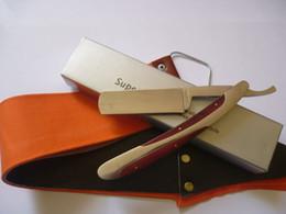 Wholesale Straight Edge Hair Shaper Stainless Steel Barber Razors Folding Shaving Razor knife cloth