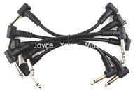 Wholesale 6 Pack Electric Guitar Cables Right Angle Effect Pedal Patch Cord