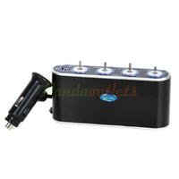 Wholesale 1 to Car Cigarette Lighter Sockets Power Adapter Splitter w Individual Switch DC V Retail
