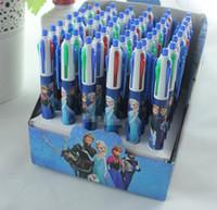 Wholesale Snow Queen Office Stationary Children School Study Office Supplies Pens Frozen Elsa Anna Cartoon Four Colors Ball Point Pen G0624