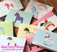 Wholesale NEW sets Lovely Designs Scandinavian Style Hobbyhorse Greeting Cards with envelope