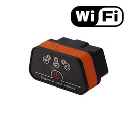 Wholesale Hot Vgate WiFi iCar OBDII ELM327 iCar2 wifi vgate OBD diagnostic interface for IOS iPhone iPad Android PC Retail