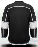 Wholesale Stanley Cup Kings Blank Home Black Ice Hockey Jerseys top quality size Mix Order Athletic Jersey