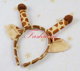 Wholesale New Fashion Giraffe Ears Headband Zoo Jungle Animal Costume Headwear Hair Accessories Adult Kids Cosplay Props