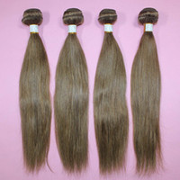 Wholesale 100 human hair straight A virgin hair color processed remy hair brazilian extensions weft mix length inch