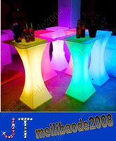 bar bar table - New fashion Led furniture RGB color Cocktail table waterproof Reception table wedding party bar supply MYY1430